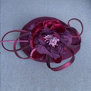 Josette Flower Embellished Felt Beret Fascinator